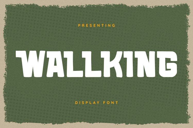 WALLKING Font example image 1