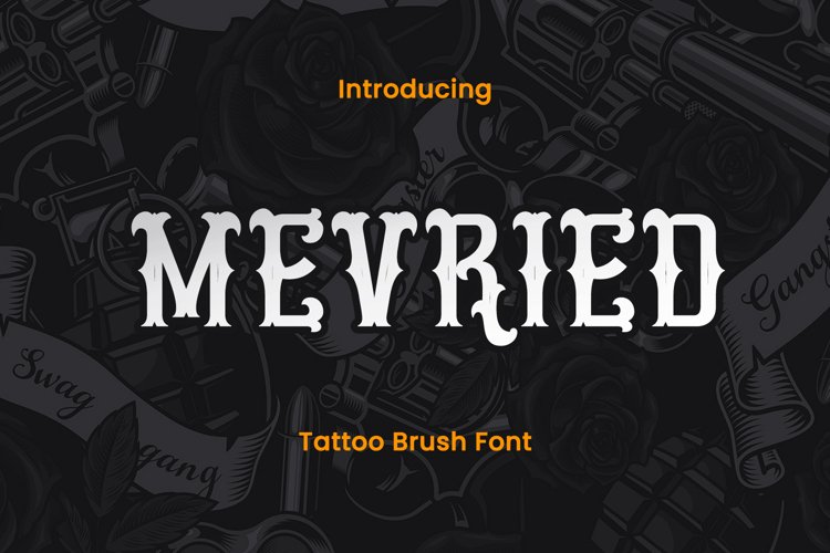 Mevried - A Tattoo Font example image 1