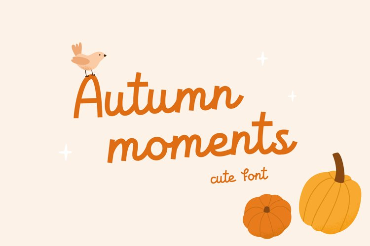Autumn moments | Cute font example image 1