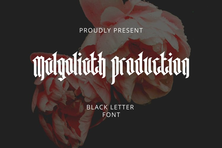 Malgoliath Font example image 1