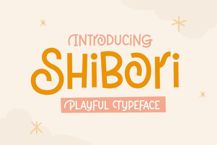 Shibori - Playful Typeface example image 1