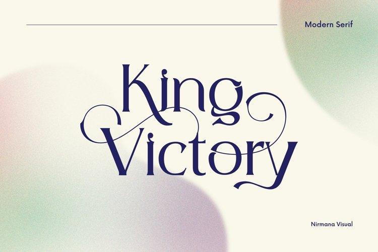 King Victory - Modern Serif