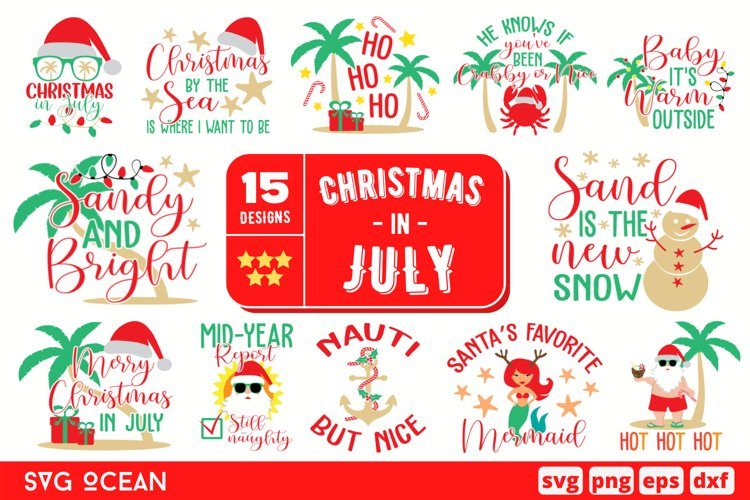 Christmas In July SVG Bundle   Christmas svg   Quote