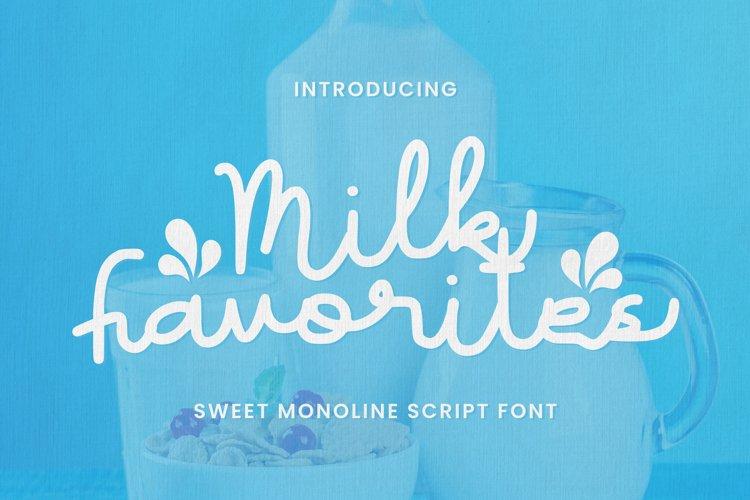 Milk Favorites Font example image 1