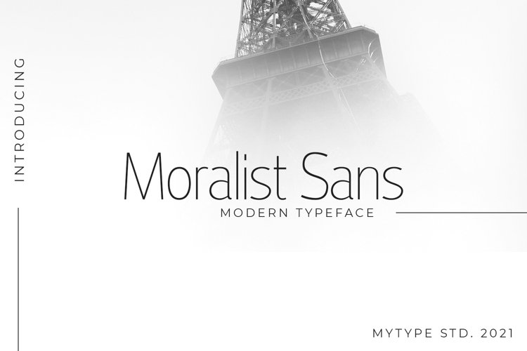 Moralist Sans example image 1