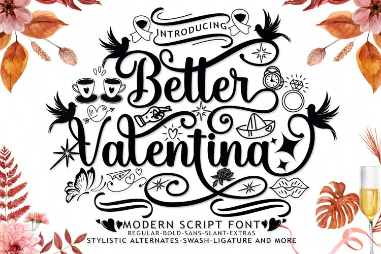 Better Valentina Font Duo example image 1