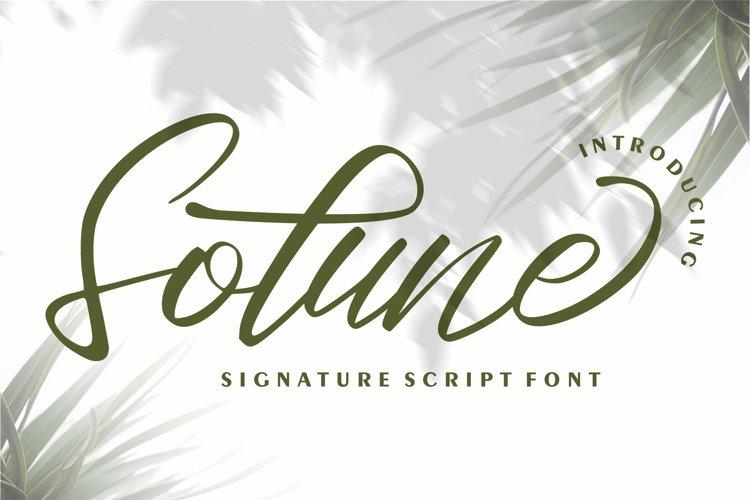 Sotune - Signature Script Font example image 1