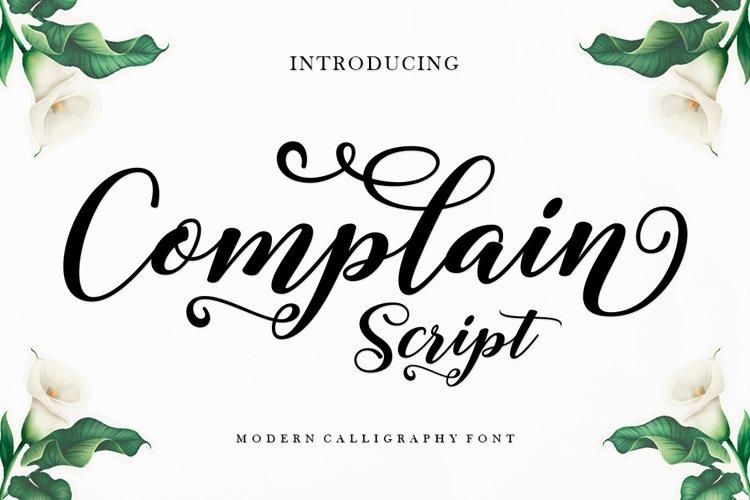 Complain Script example image 1