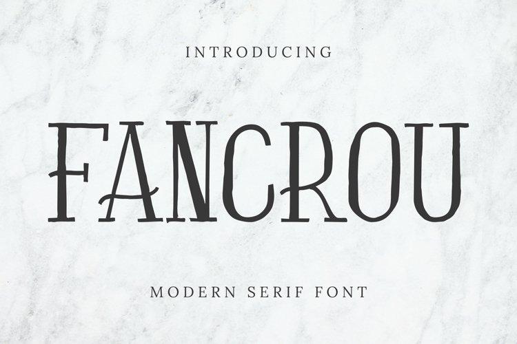 Fancrou Font example image 1