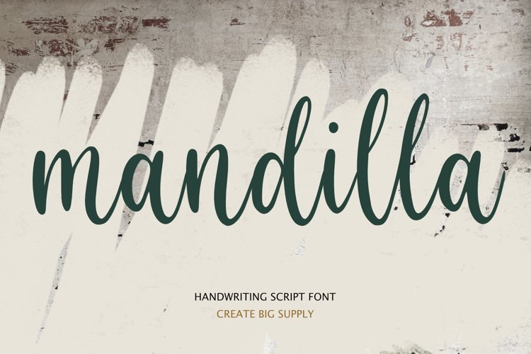 Mandilla - Calligraphy Script Font example image 1