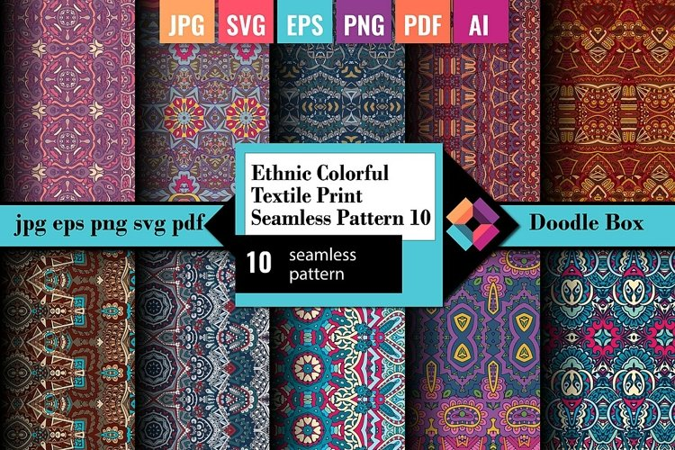 Ethnic Colorful Textile Print Seamless Pattern vol.10