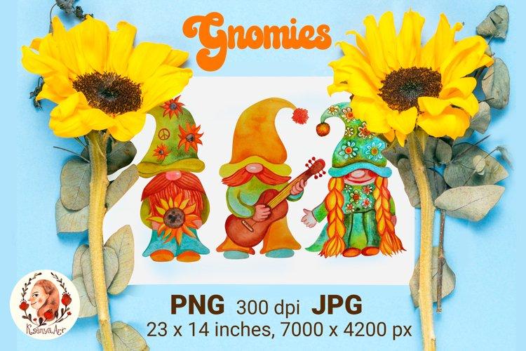 Summer Gnomes. Hippie Gnome. Gnome Sublimation. Hippie.