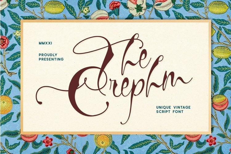 Crephm Font example image 1