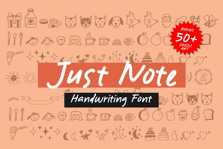 Just Note - Font and Doodle example image 1