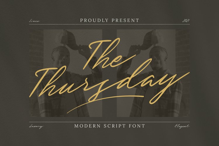 The Thursday Font example image 1