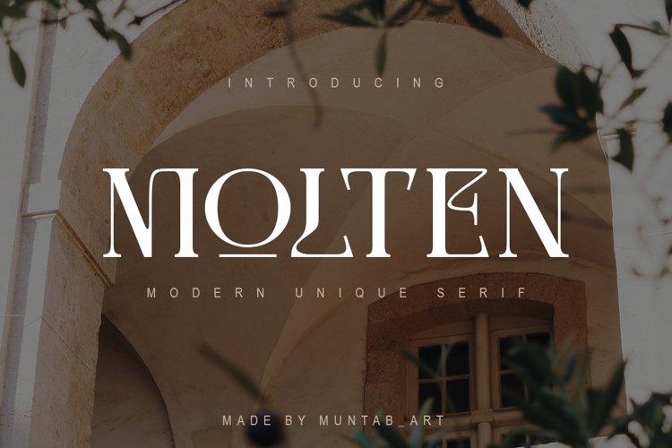 Molten   Modern Serif example image 1