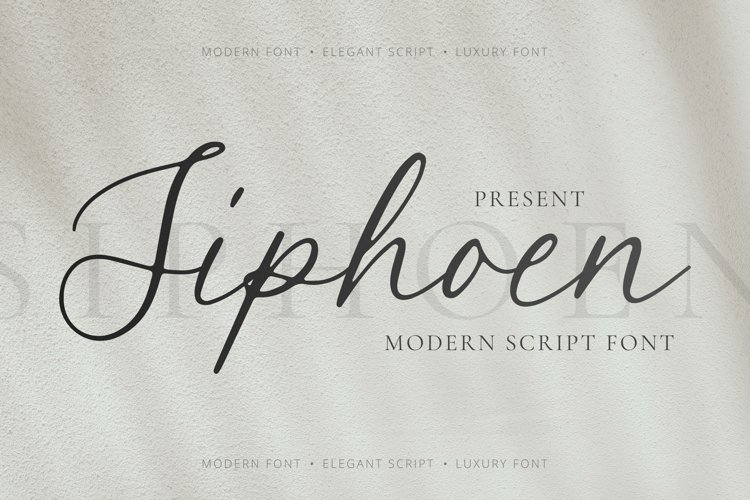 Siphoen Font example image 1