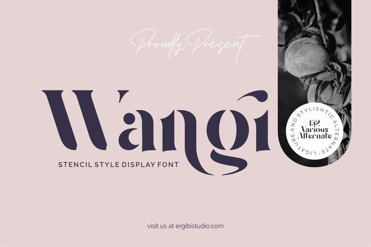 Wangi - Stencil Style example image 1
