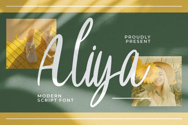 Aliya Font example image 1