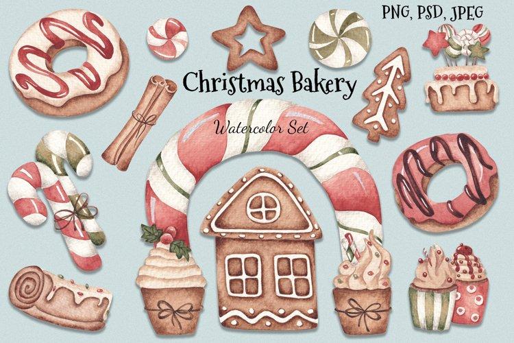"Watercolor Set ""Christmas Bakery"" example image 1"
