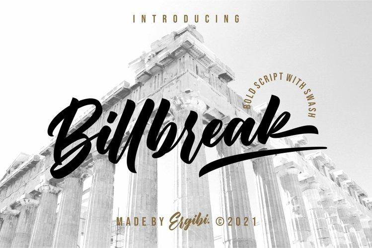 Billbreak - Bold Script example image 1