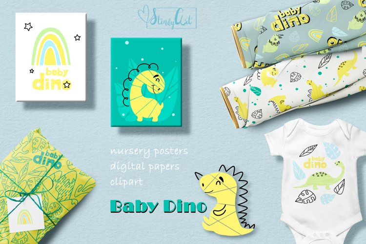 Dinisaur bundle-SVG/PNG clipart, kids posters, digital paper