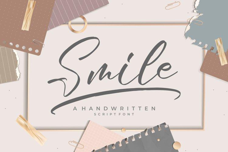Smile -Handwritten Script Font example image 1