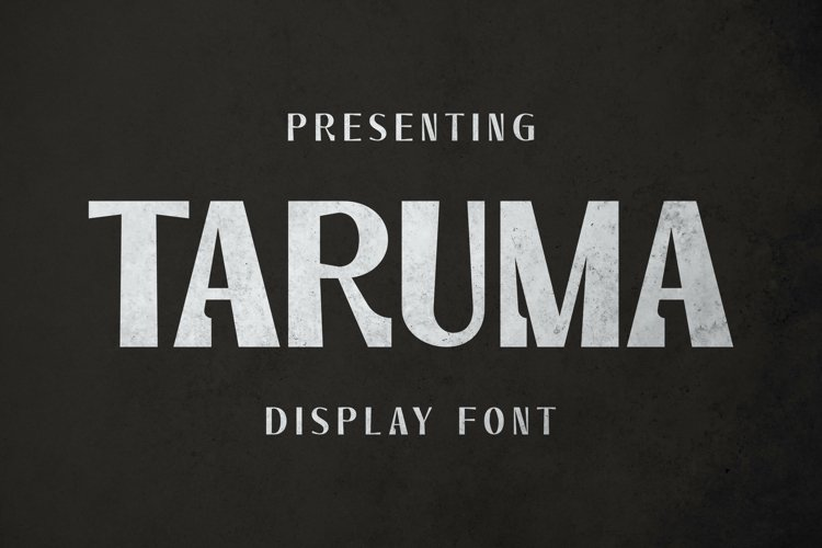Taruma Font example image 1