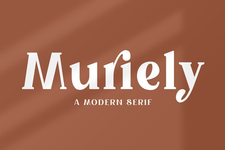 Muriely - A Modern Serif example image 1