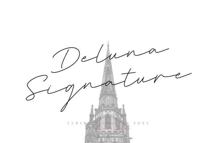 Deluna Signature Font example image 1