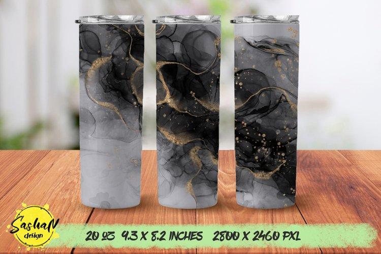 Black and gold, 20 oz skinny tumbler sublimation png design