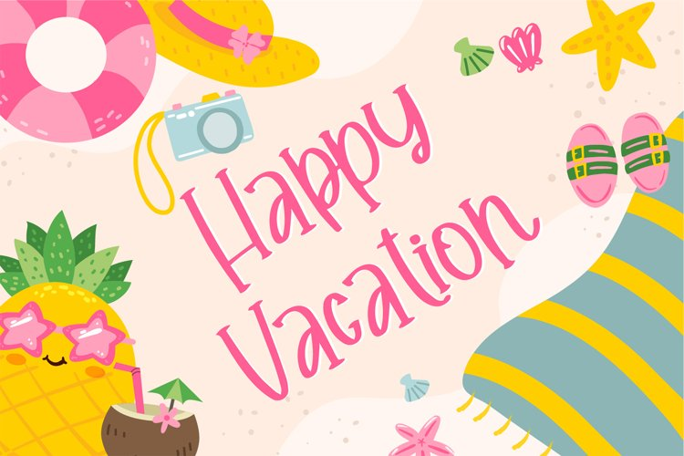 Happy Vacation - Summer Happy Font example image 1