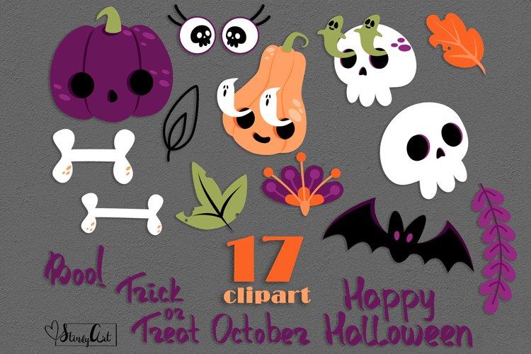 Halloween SVG bundle - pumkins, skulls, ghosts, sign, bat