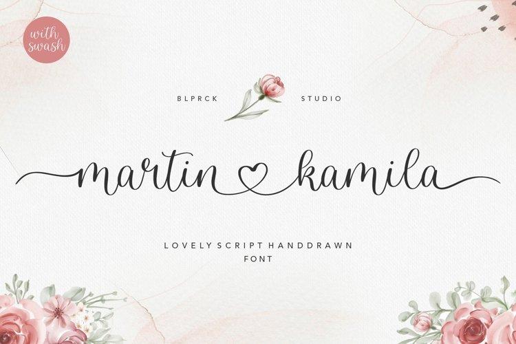 martin kamila lovely script handdrawn font example image 1