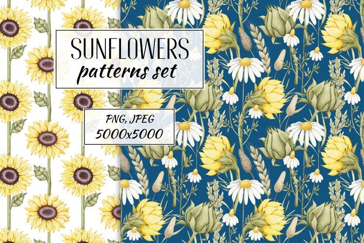 Sunflowers Patterns Set