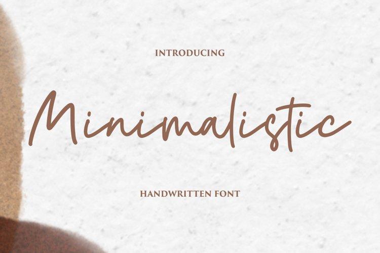 Minimalistic - Handwritten Font example image 1
