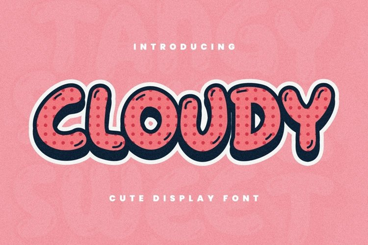 Cloudy Font example image 1