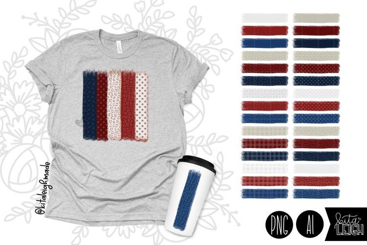 Patriotic Brush Elements for Sublimation/Print Backgrounds