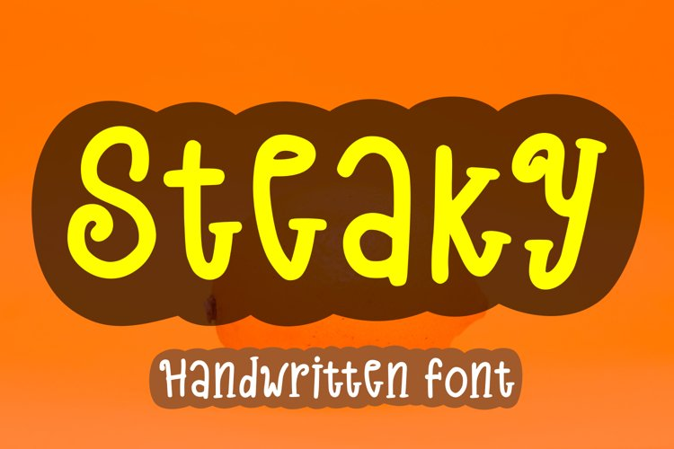 Steaky - A Cute Handwritten Font example image 1