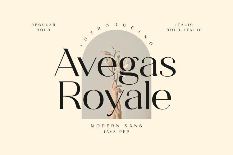 Avegas Royale - Modern Sans example image 1
