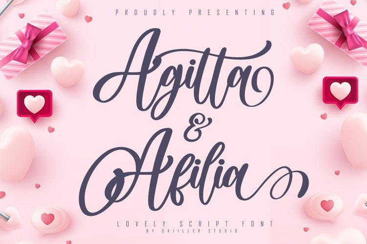 Agitta Afilia Lovely Script Font example image 1