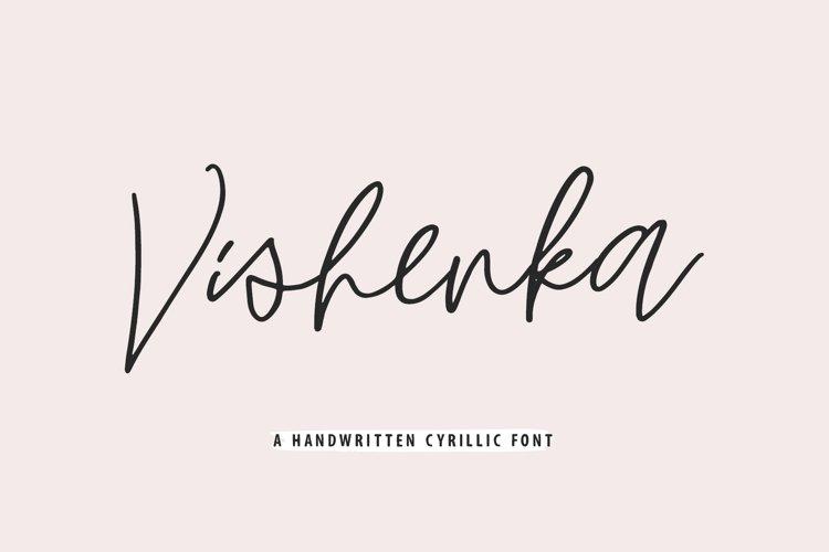 Vishenka Cyrillic Font example image 1