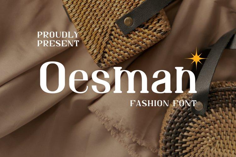 Oesman Font example image 1