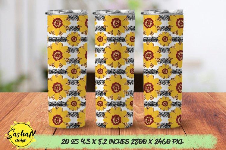 20 oz skinny tumbler sunflower sublimation