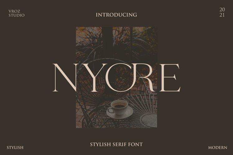 NYORE - Stylish Serif Font example image 1