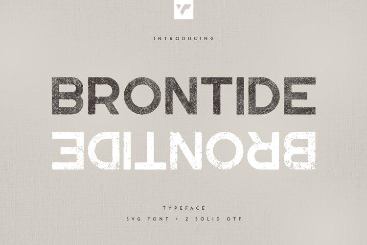 Brontide Typeface - SVG 2 OTF font