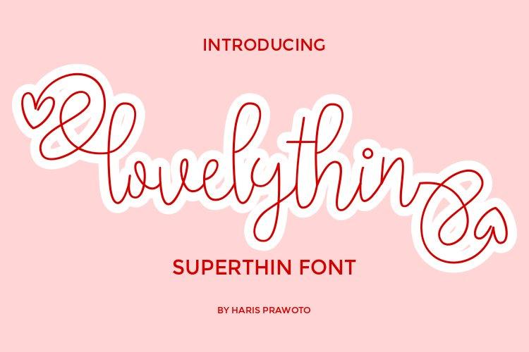 lovelythin Super Thin Font