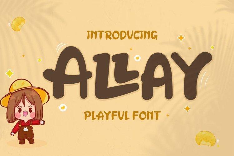 Allay - Display Playful Font example image 1