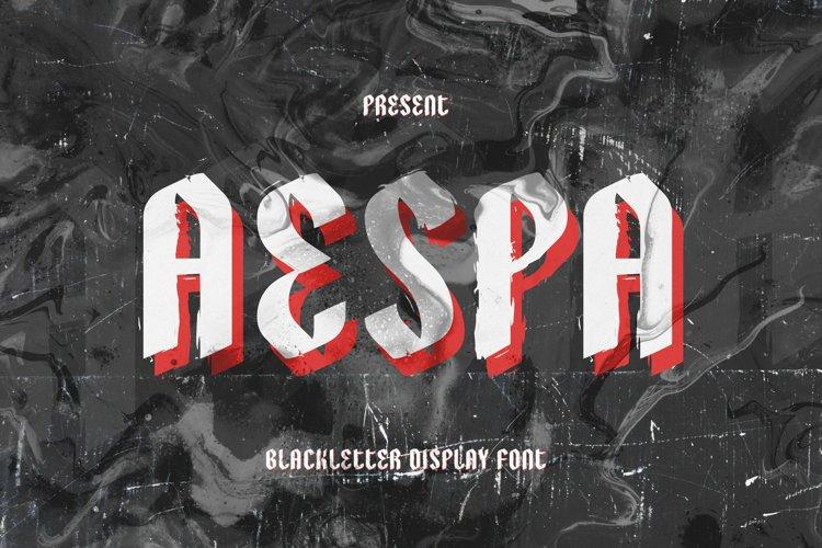 Aespa Font example image 1