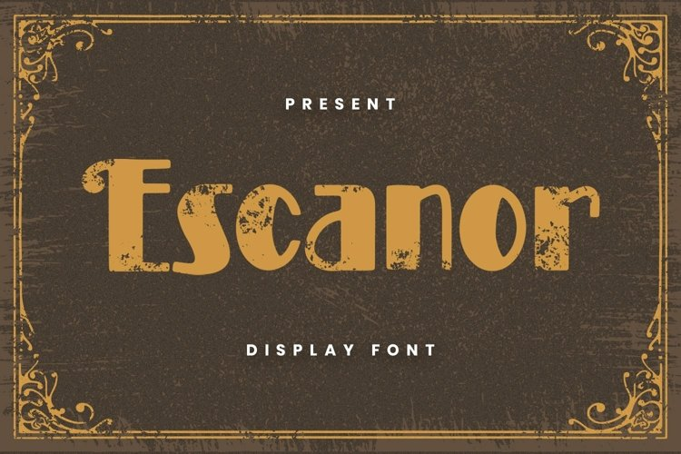 Web Font Escanor Font example image 1